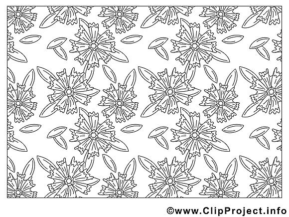 Décoration dessin à télécharger – Fleurs à colorier