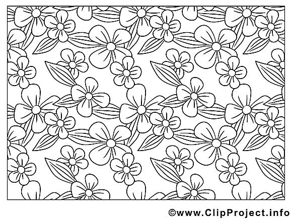 Décoration image – Fleurs images à colorier