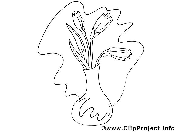 Dessin fleurs gratuits à imprimer
