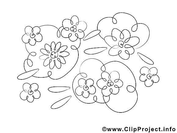 Floraison dessin – Coloriage fleurs à télécharger
