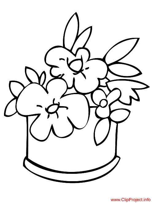 Vase coloriage