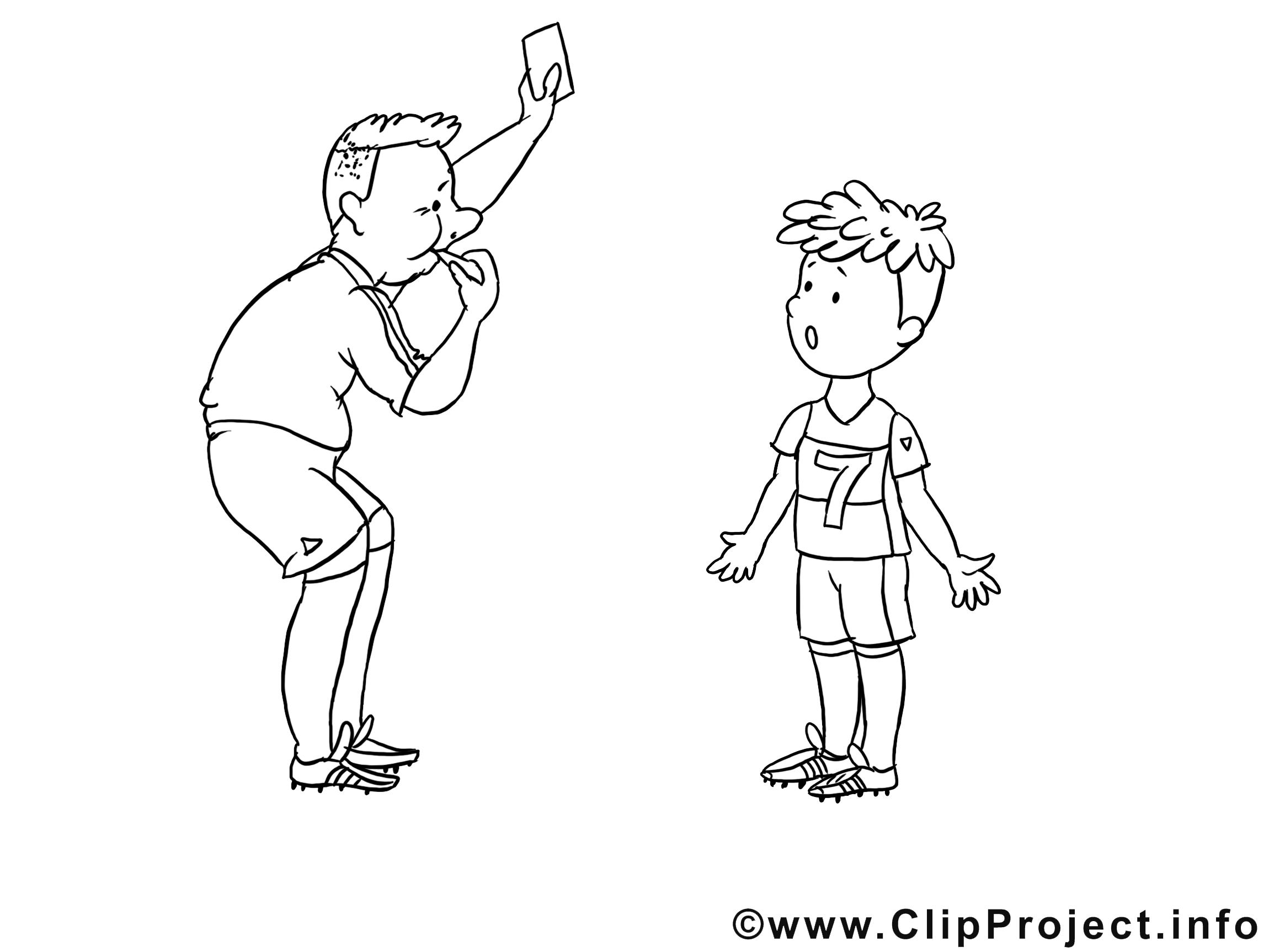 Arbitre dessins gratuits – Football à colorier