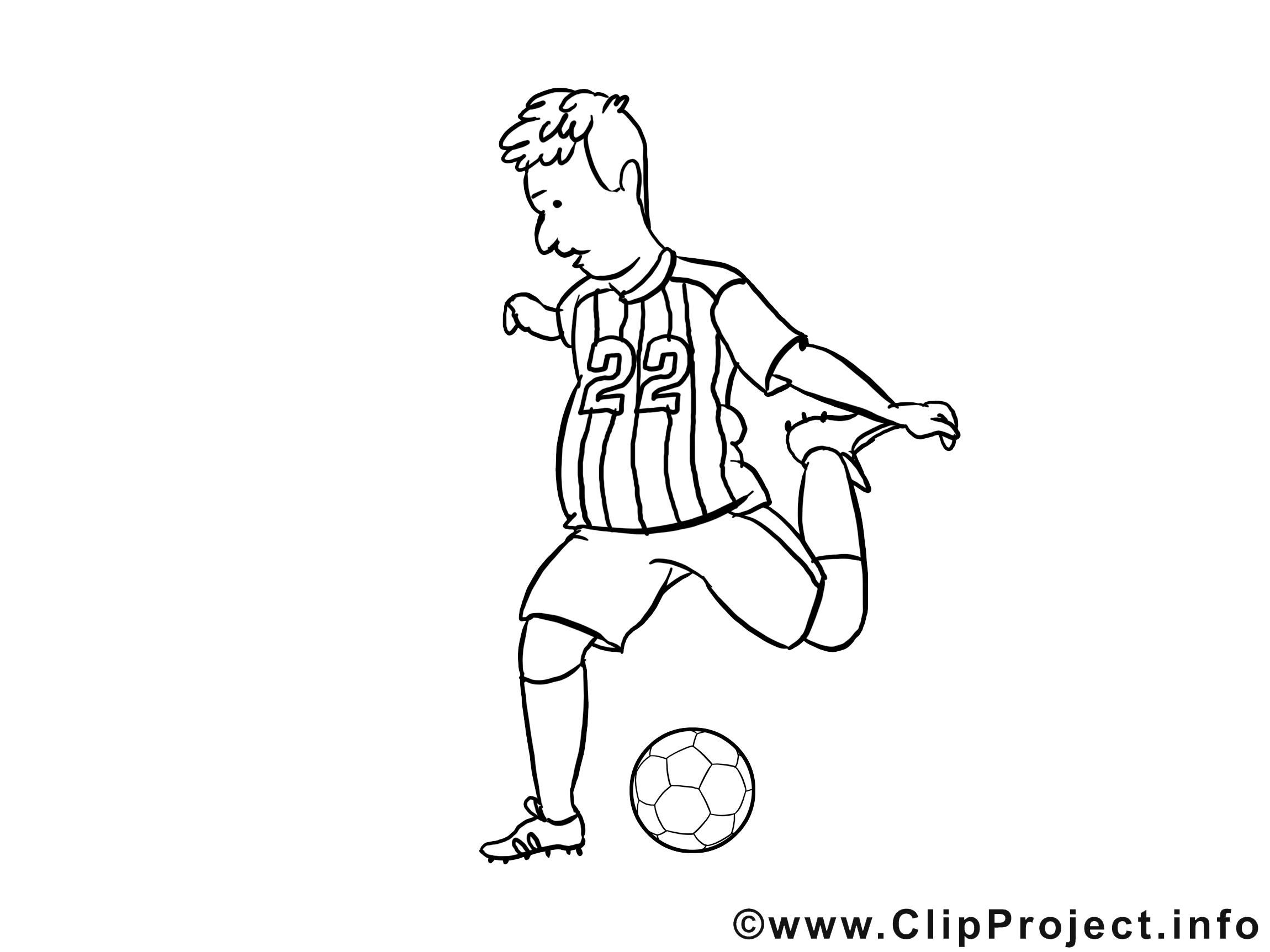 Ballon clip arts – Football à imprimer