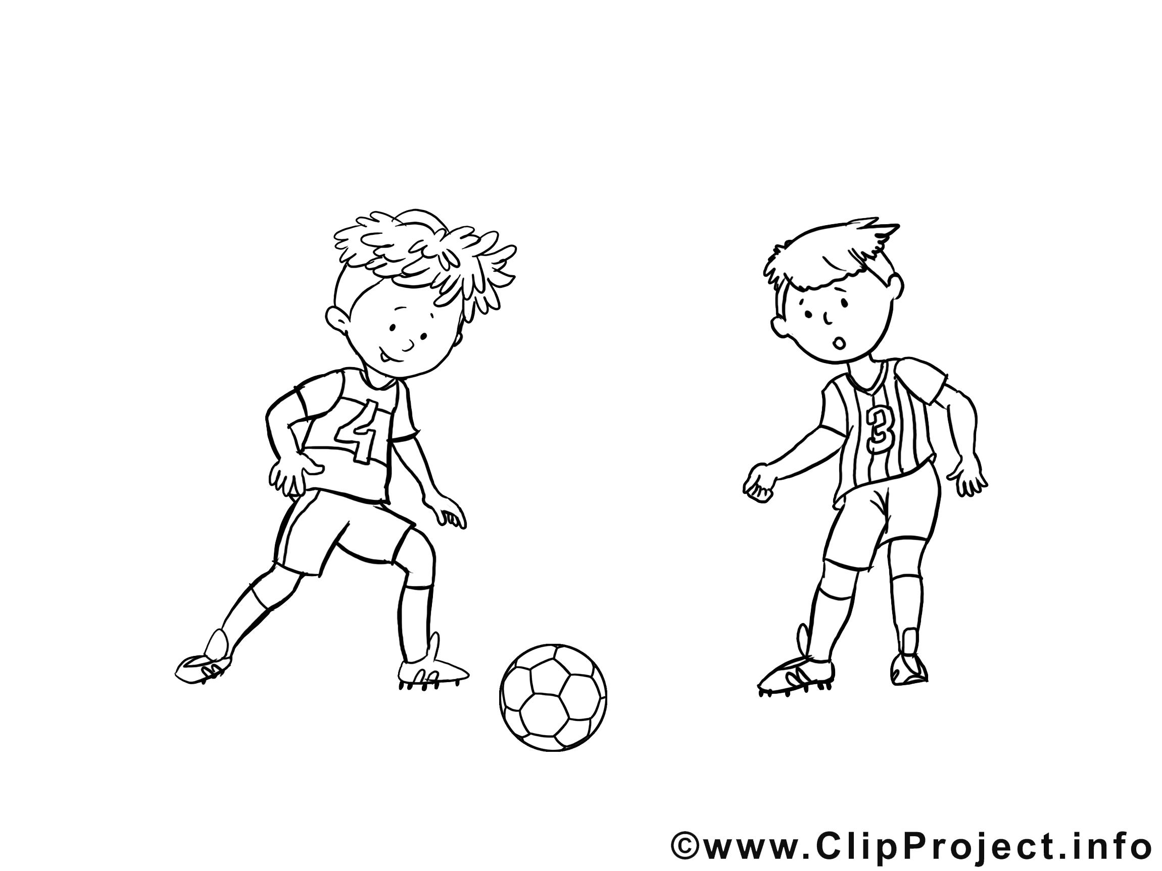 Ballon clipart gratuit – Football à colorier