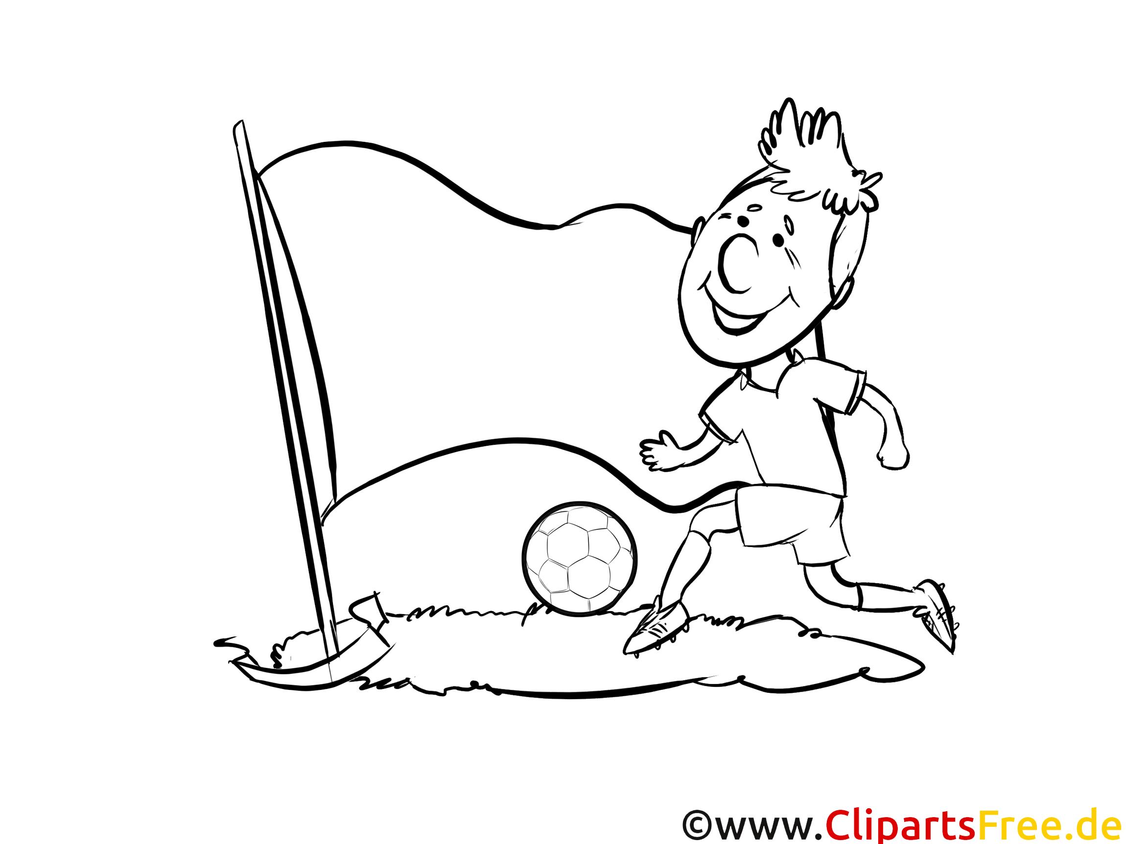 Clip art gratuit Coloriage Football Albanie pour télécharger