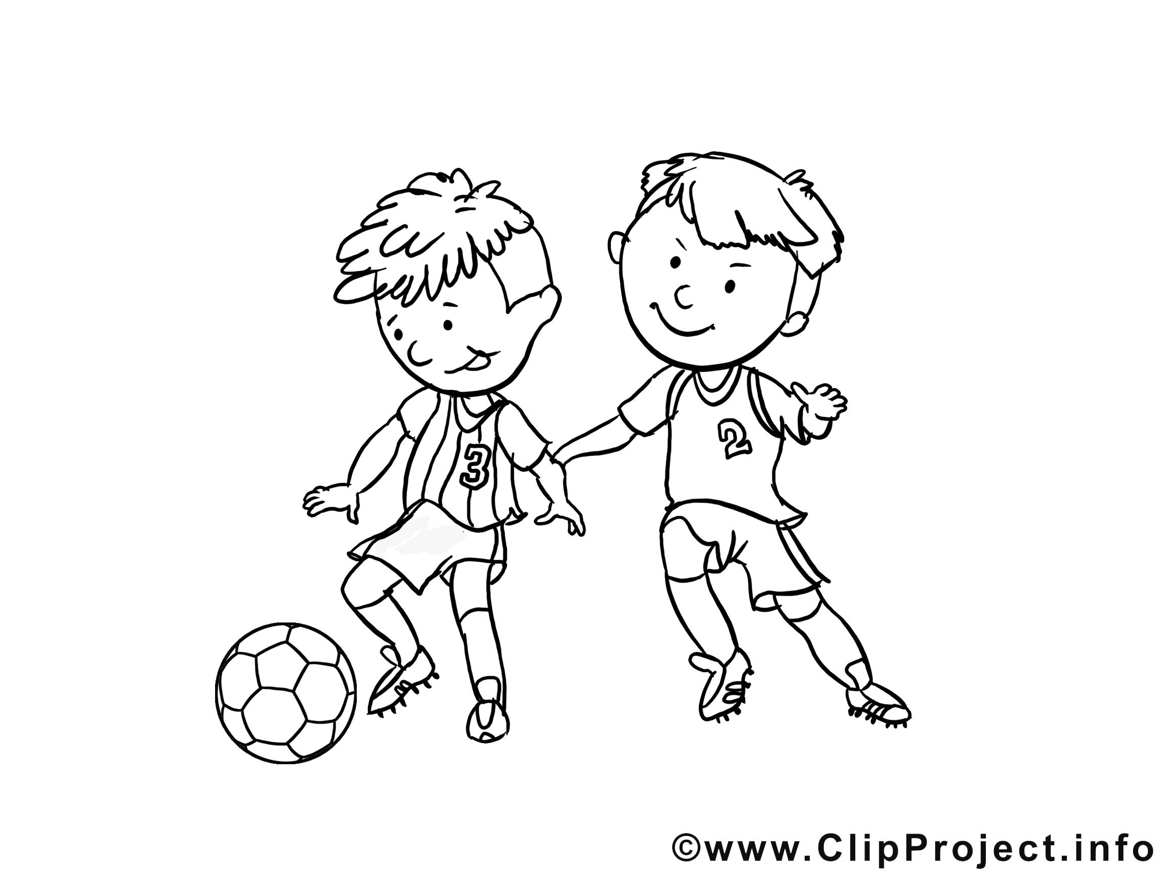 Coloriage football image à télécharger