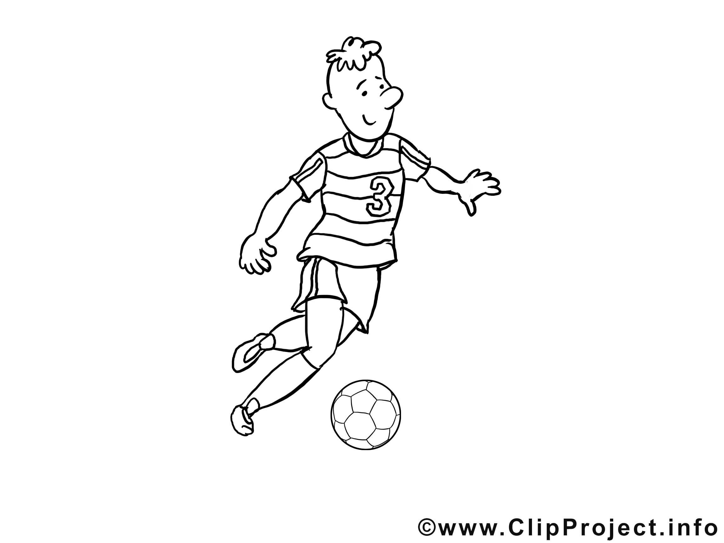 Coloriage Joueur De Foot.Coloriage Joueur Football Illustration A Telecharger Football