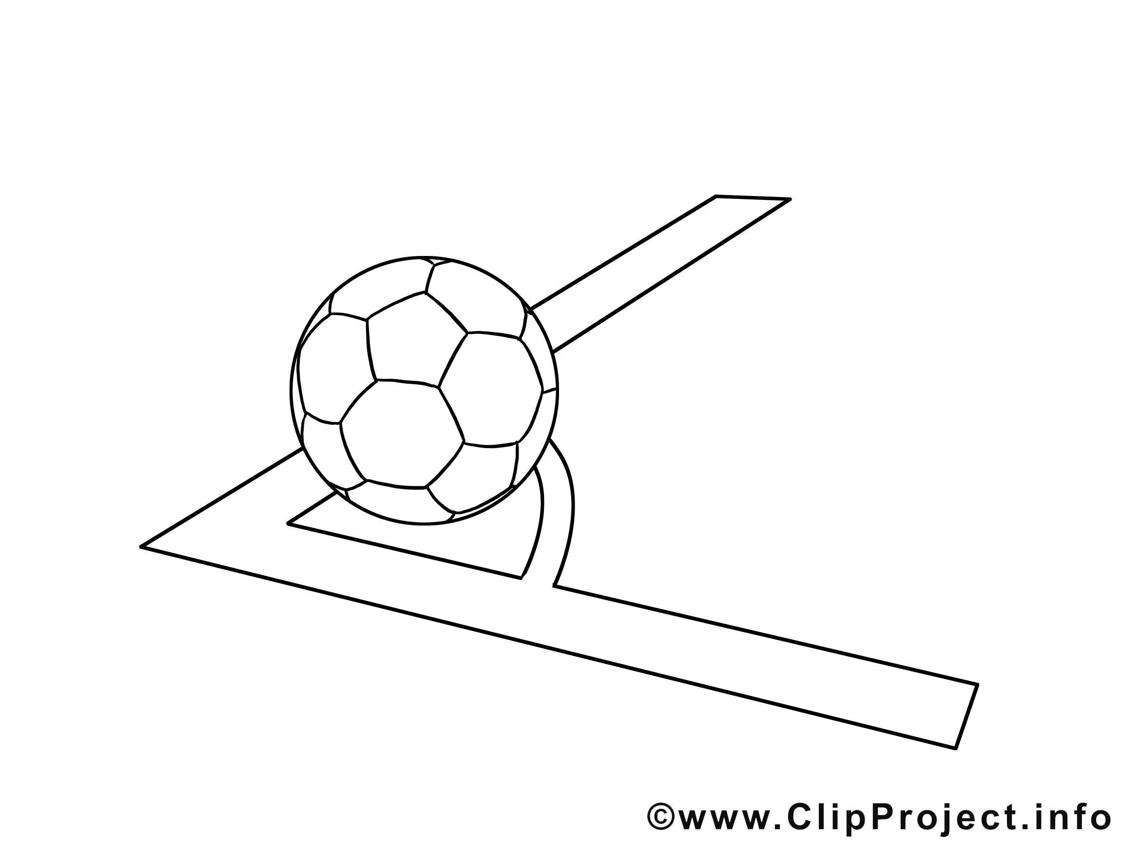 Corner illustration – Football à imprimer