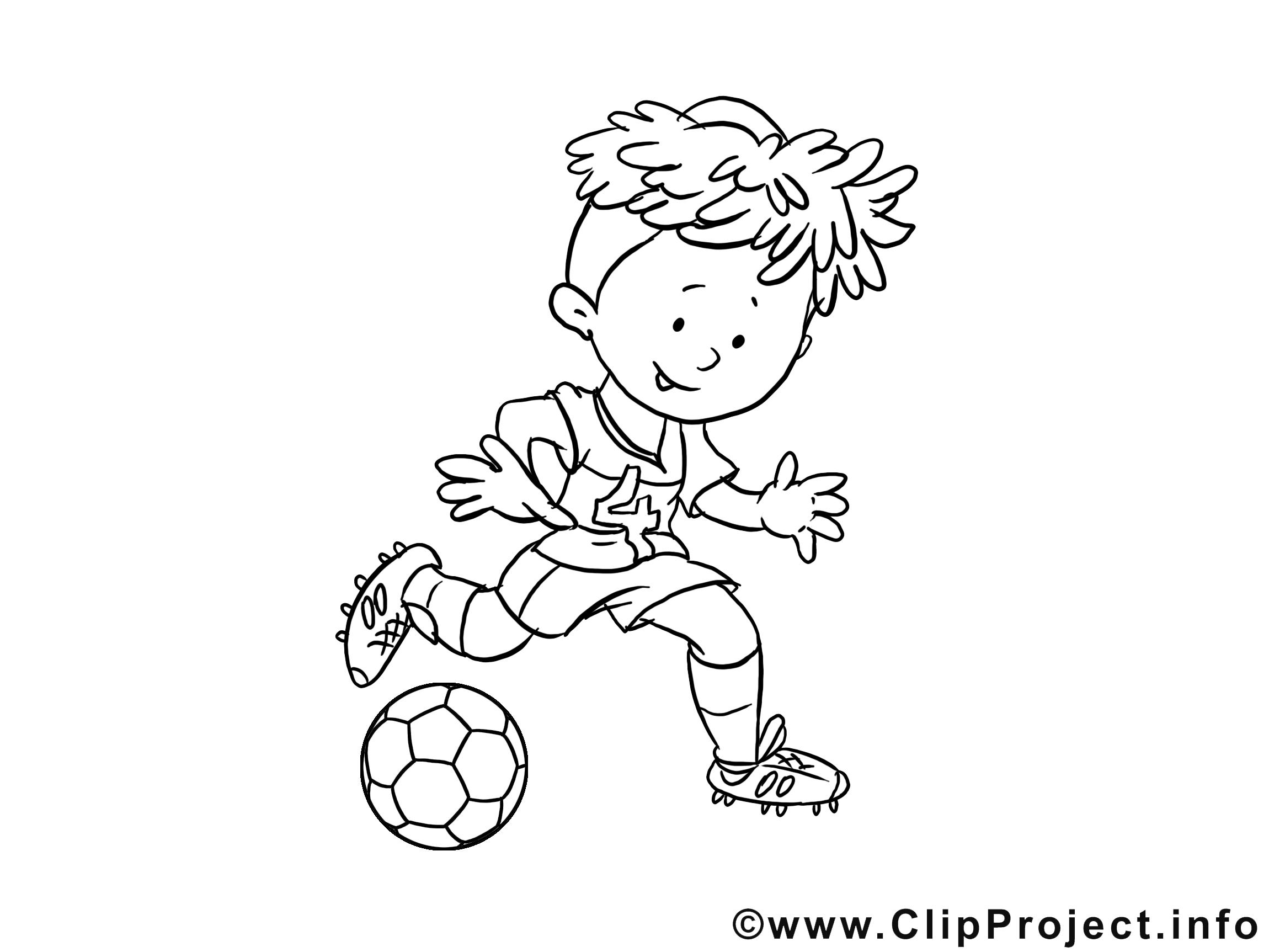 Footballeur clipart – Football dessins à colorier