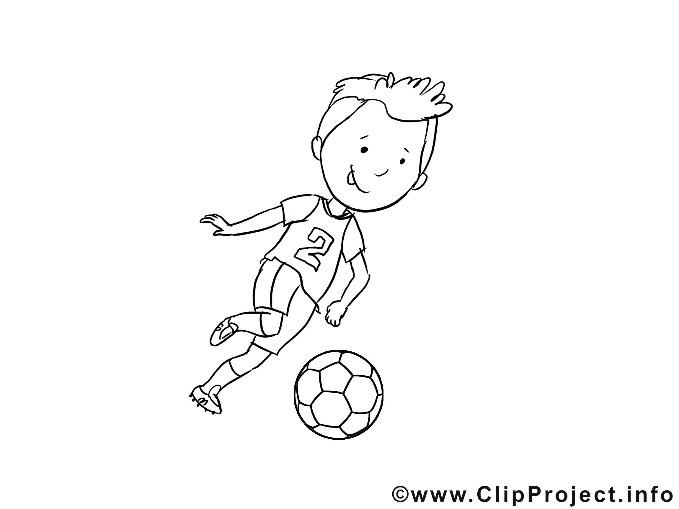 Footballeur image – Football images à colorier