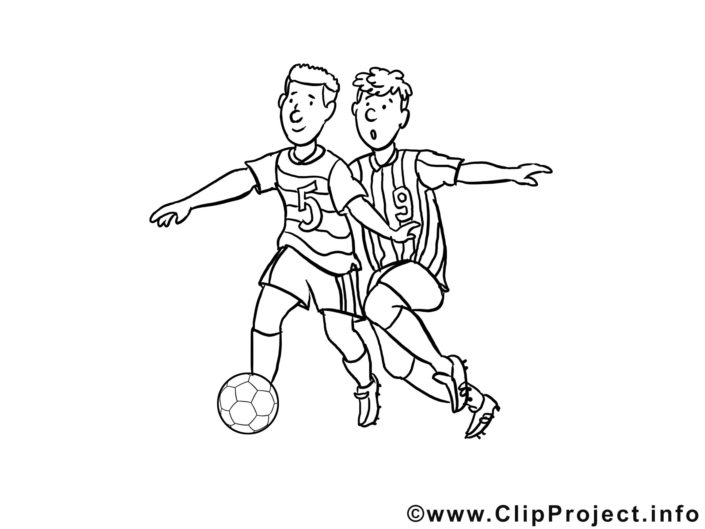 Footballeurs image – Coloriage football illustration