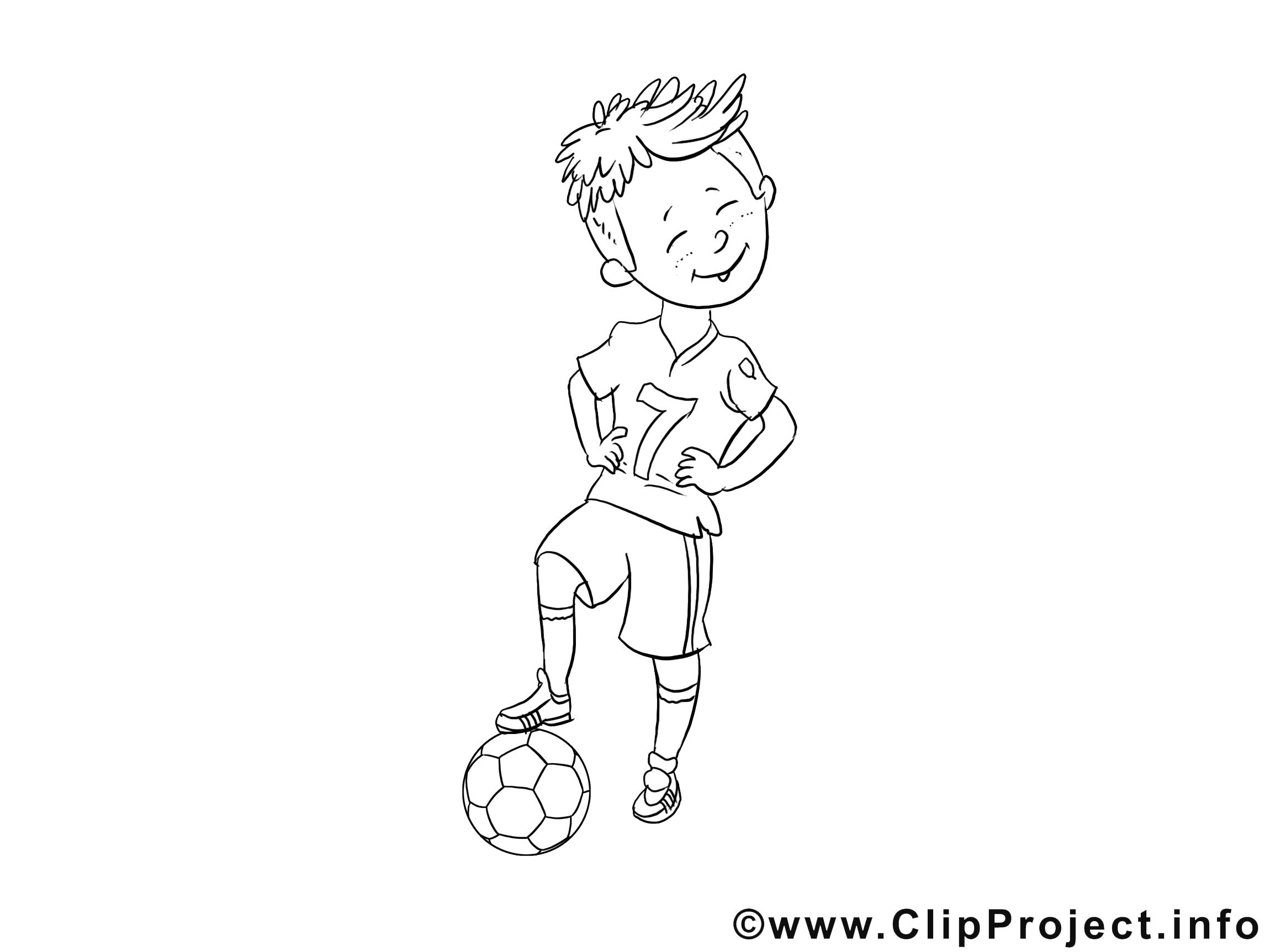 Image à télécharger ballon – Football à colorier