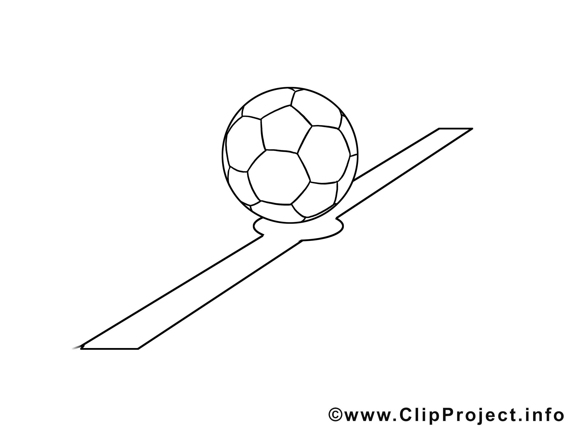 Ligne dessin – Football gratuits à imprimer