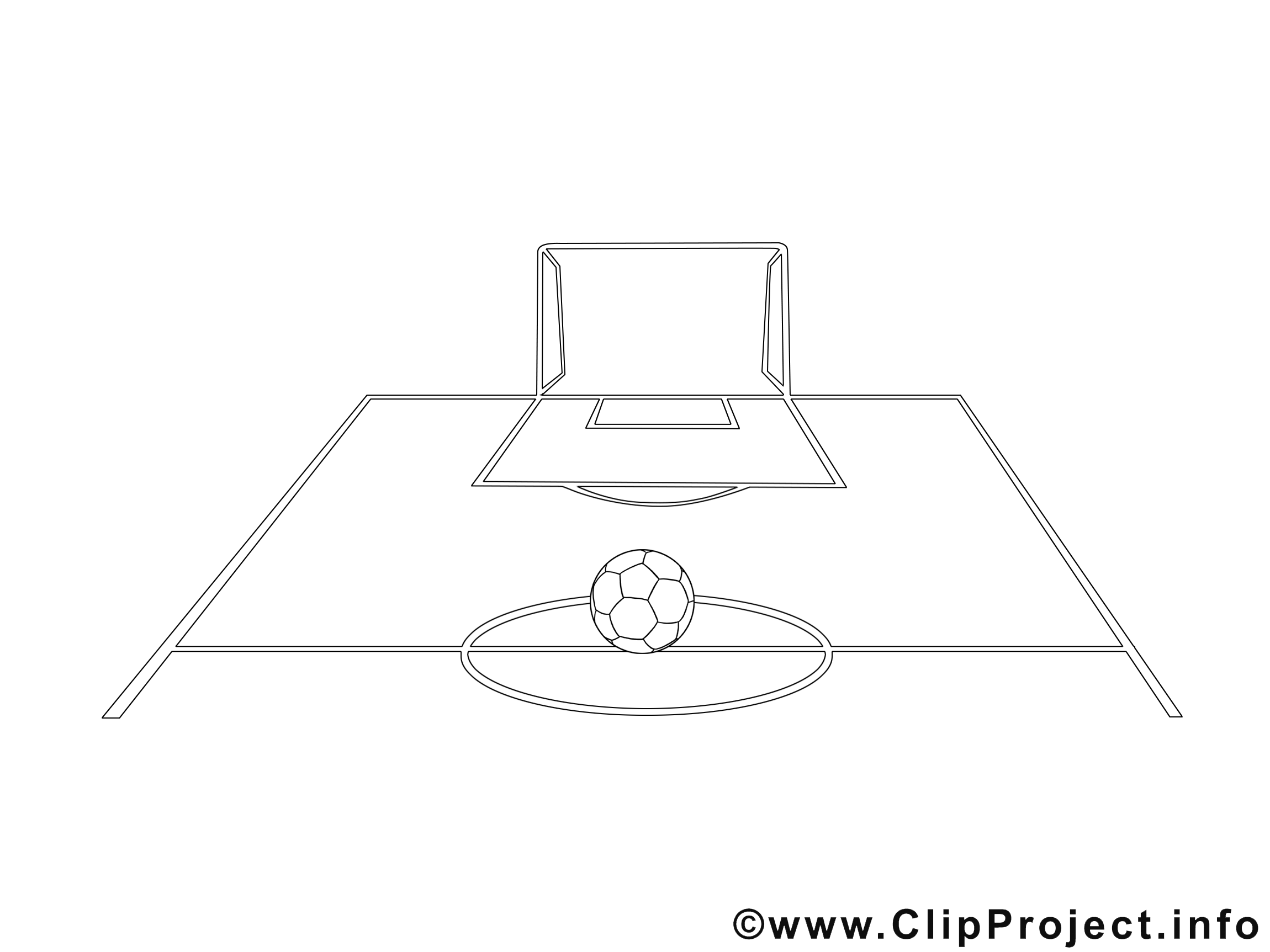 Coloriage Terrain De Foot.Terrain Illustration Football A Imprimer Football