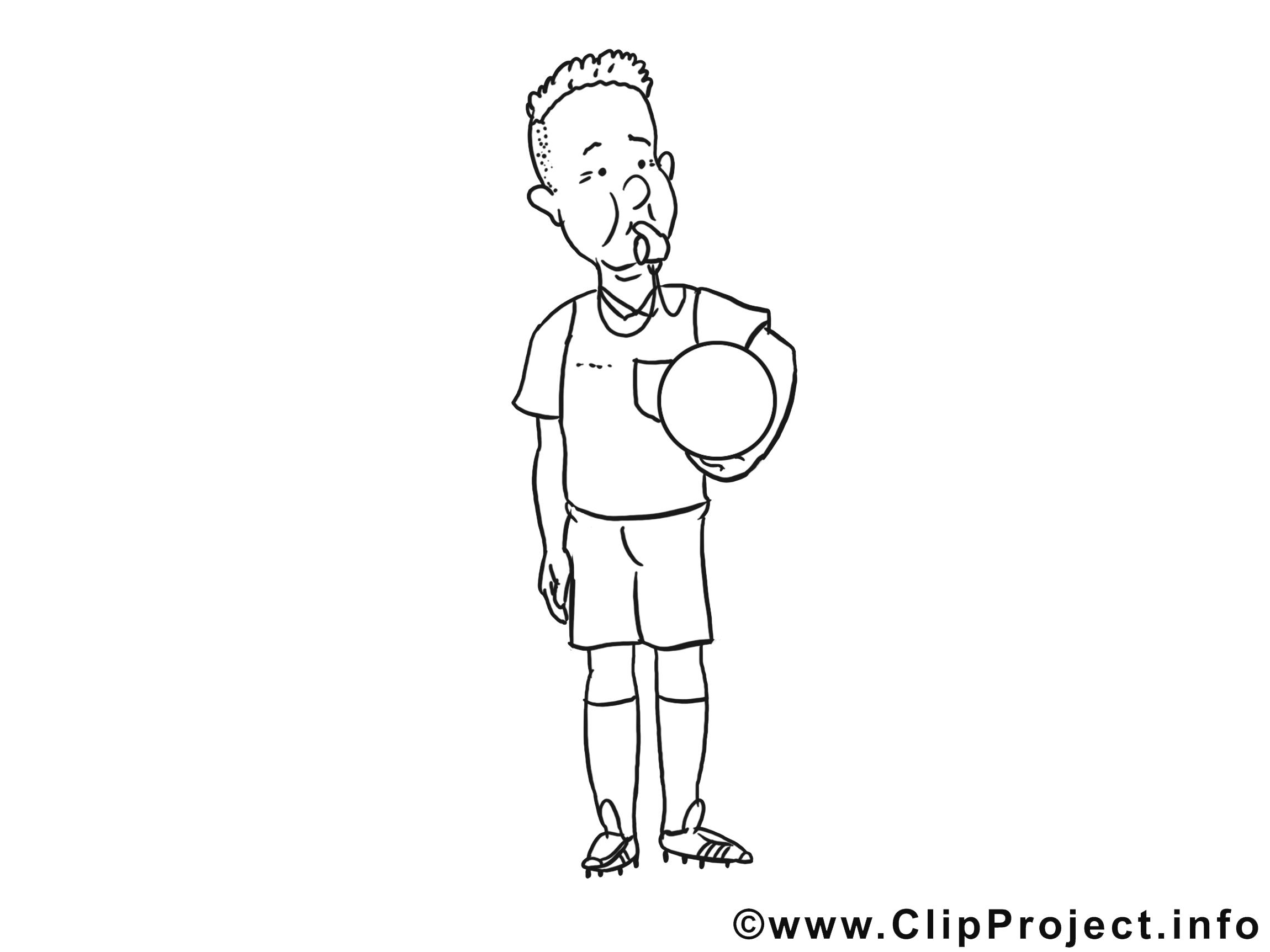 Violation images gratuites – Football à colorier