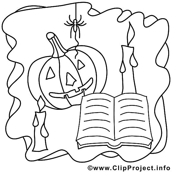 Araignée image – Halloween images à colorier