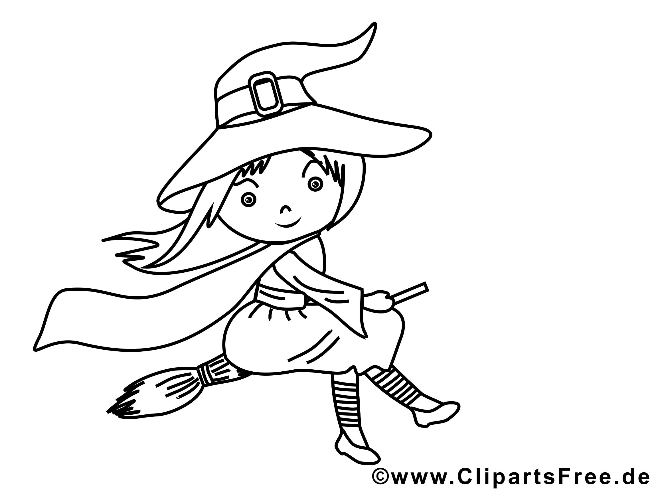 Balai dessin – Halloween gratuits à imprimer