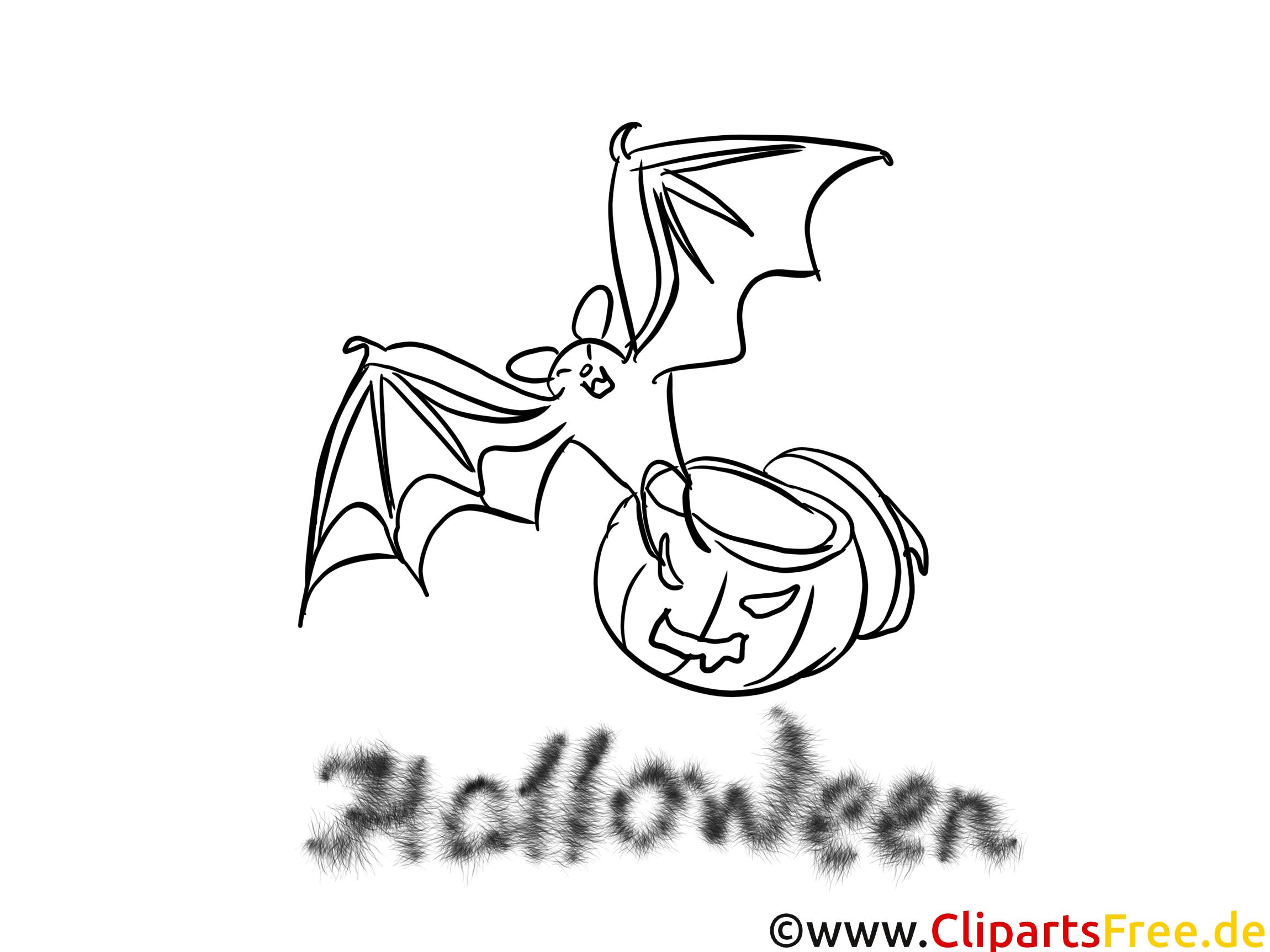 Chauve-souris image – Halloween à colorier