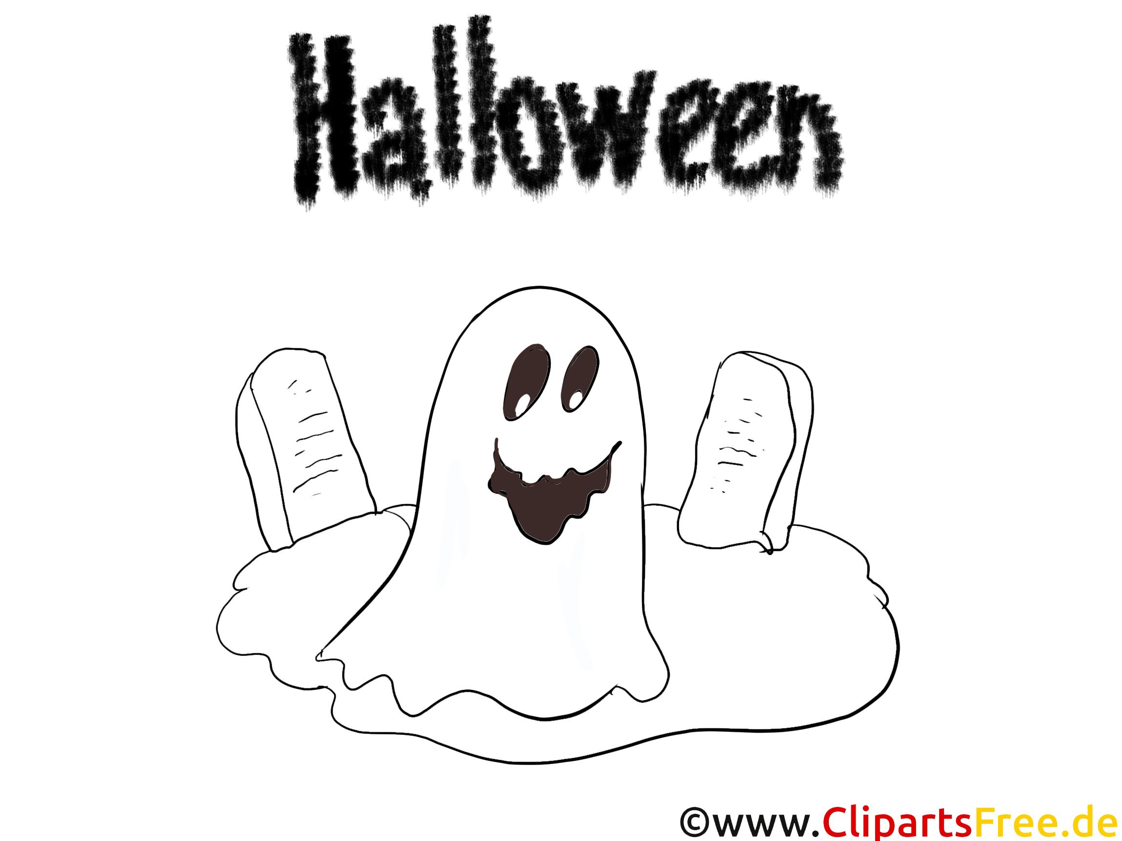 Cimetière dessin à télécharger – Halloween à colorier
