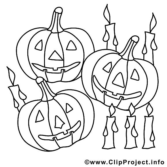 Citrouilles dessin à télécharger – Halloween à colorier