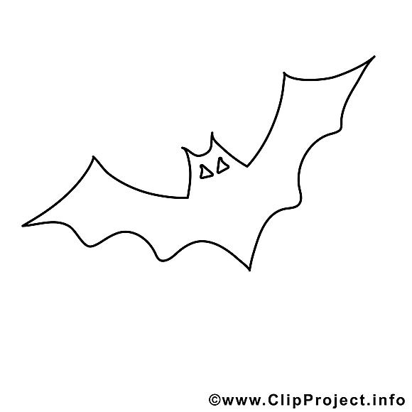 Clip art gratuit chauve-souris – Halloween à imprimer