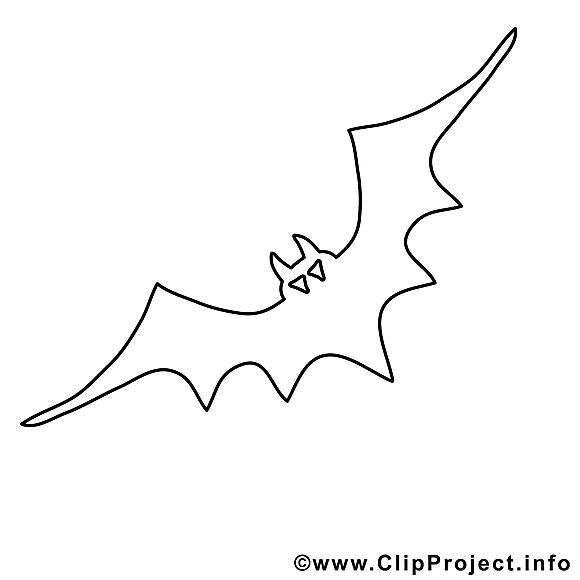 Cliparts gratuis chauve-souris – Halloween à imprimer