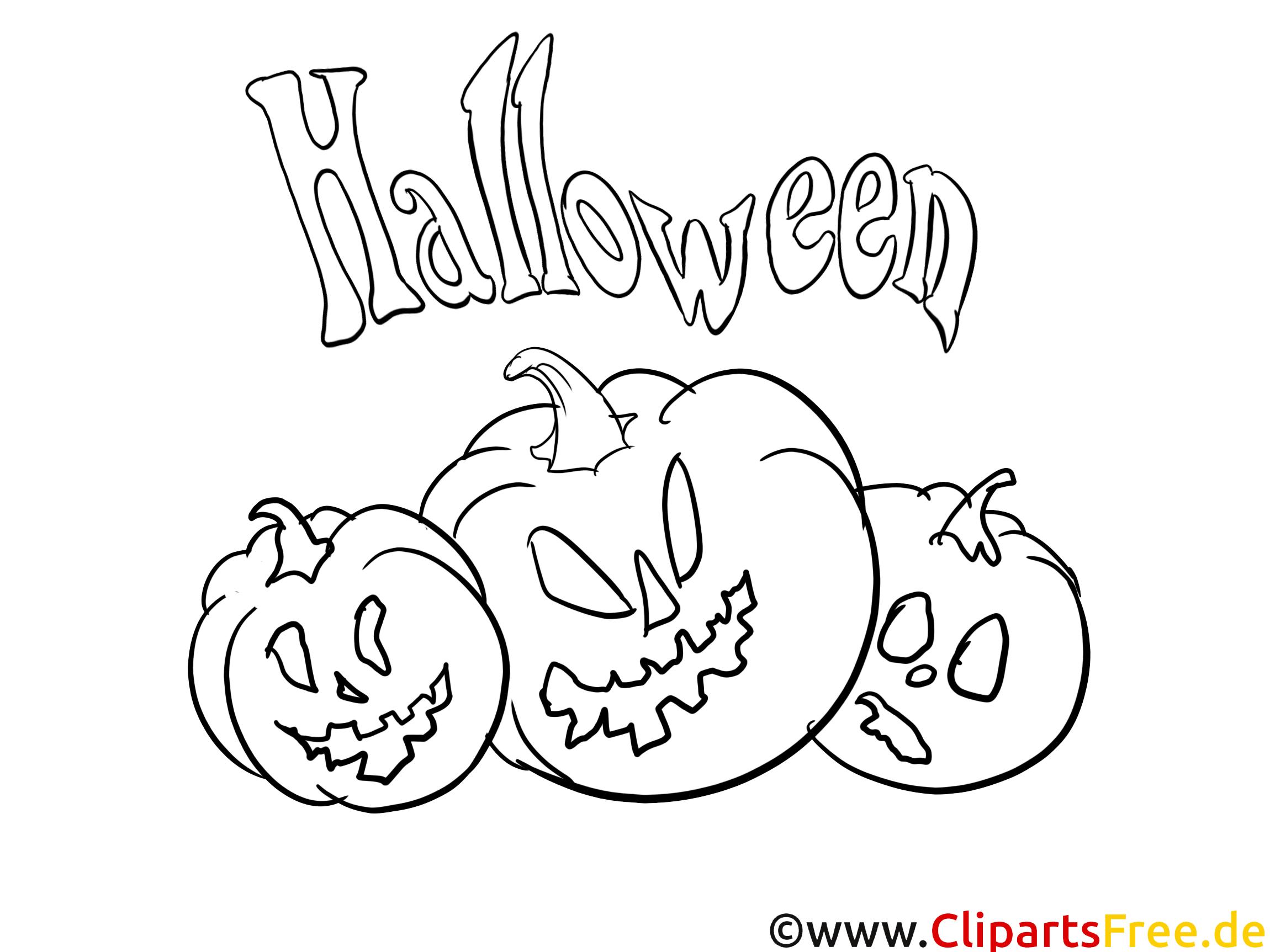 Courges image gratuite – Halloween à imprimer