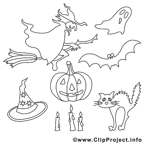 Décoration dessin – Coloriage halloween à télécharger