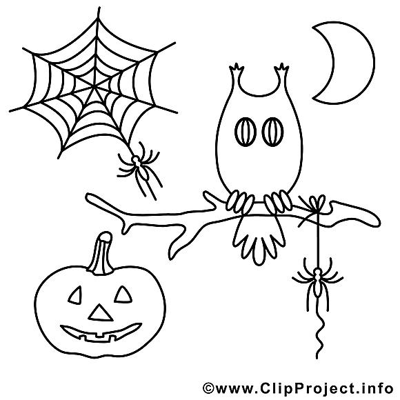 Décoration illustration – Halloween à colorier