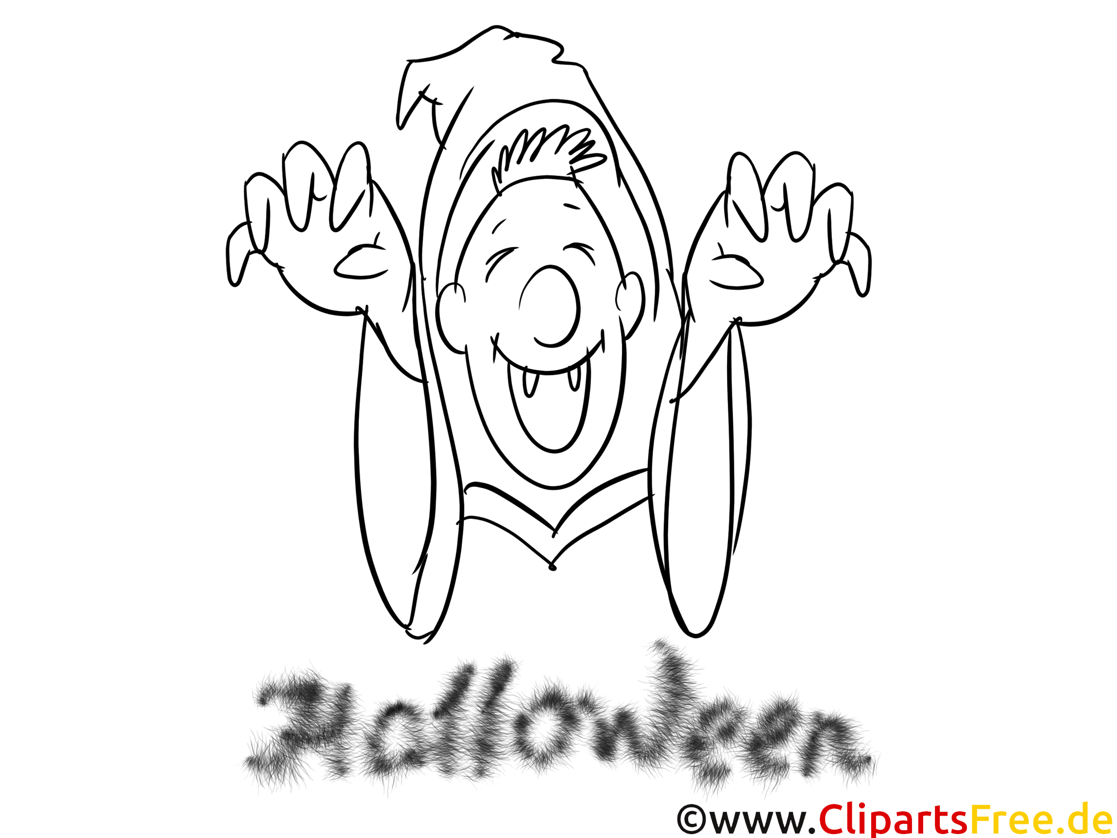 Déguisé clipart – Halloween dessins à colorier