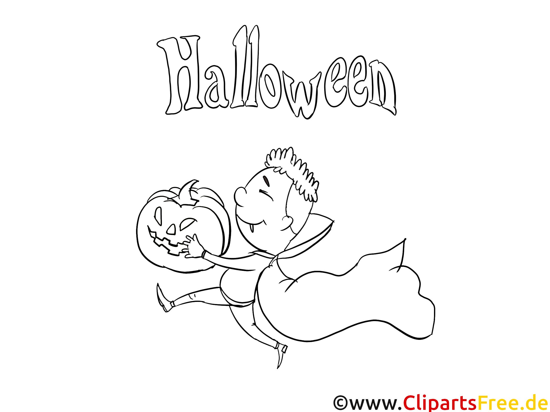 Déguisé image à télécharger – Halloween à colorier