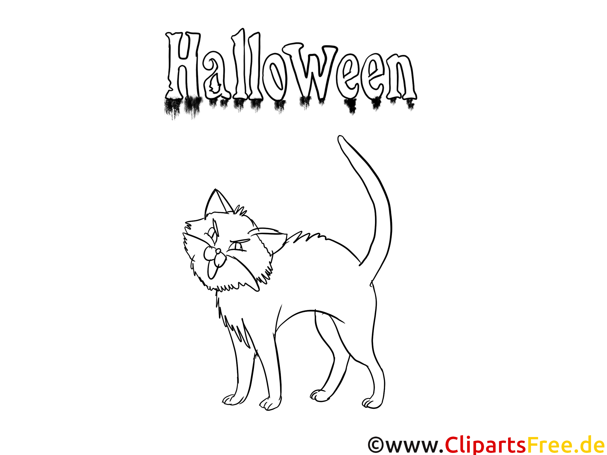 Dessin chat coloriage halloween t l charger - Dessin chat halloween ...