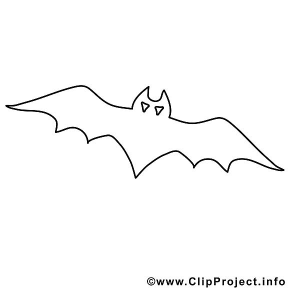 Dessins gratuits chauve-souris – Halloween à colorier