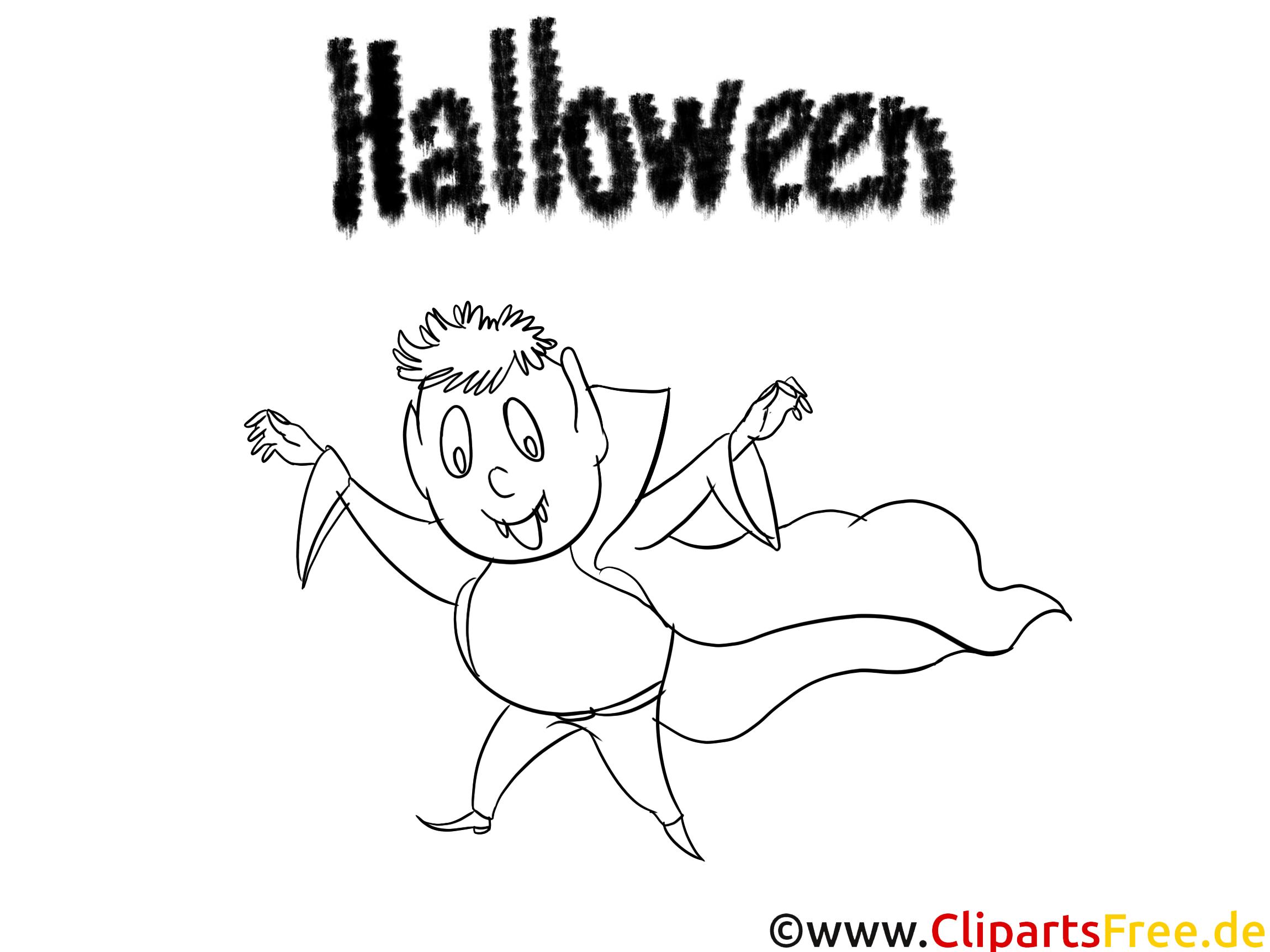 Dracula clipart – Halloween dessins à colorier