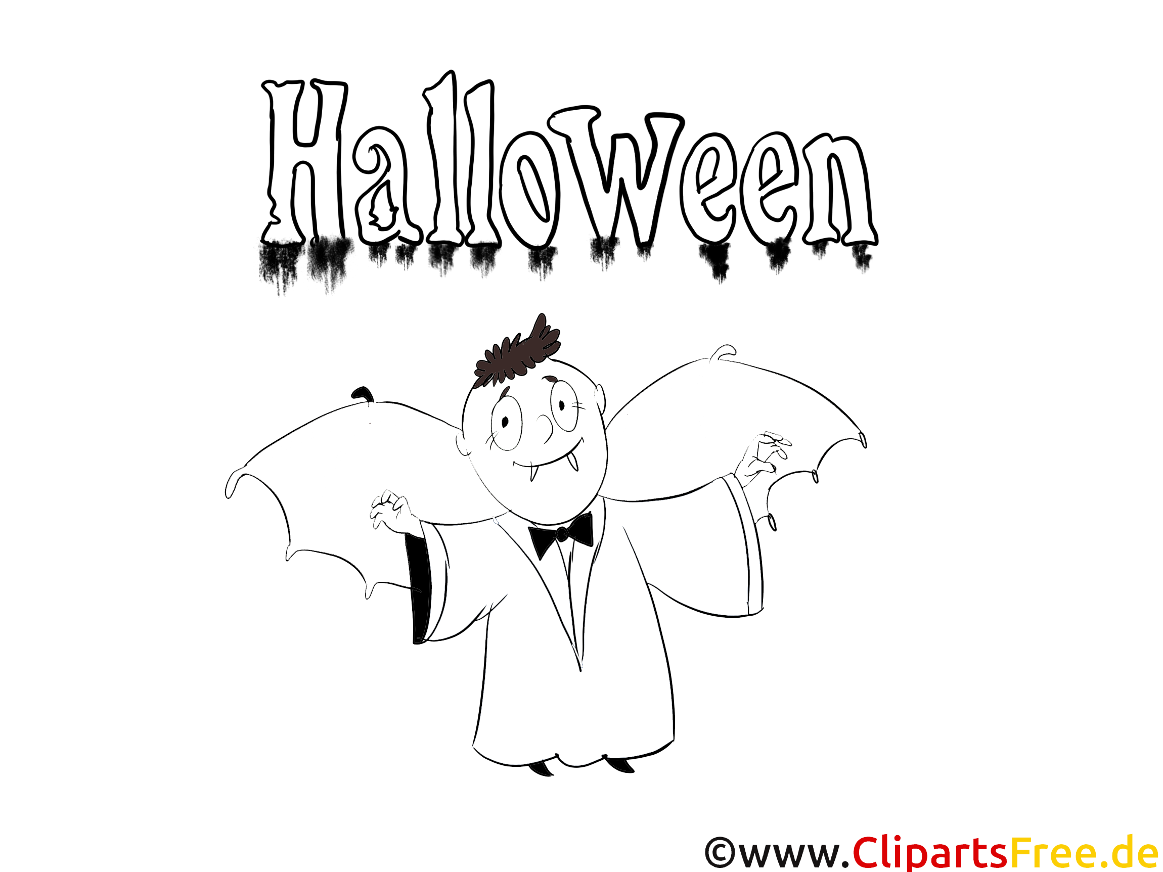 Dracula image – Coloriage halloween illustration