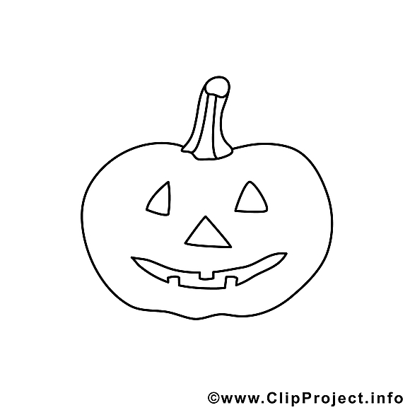 Image gratuite citrouille – Halloween à colorier