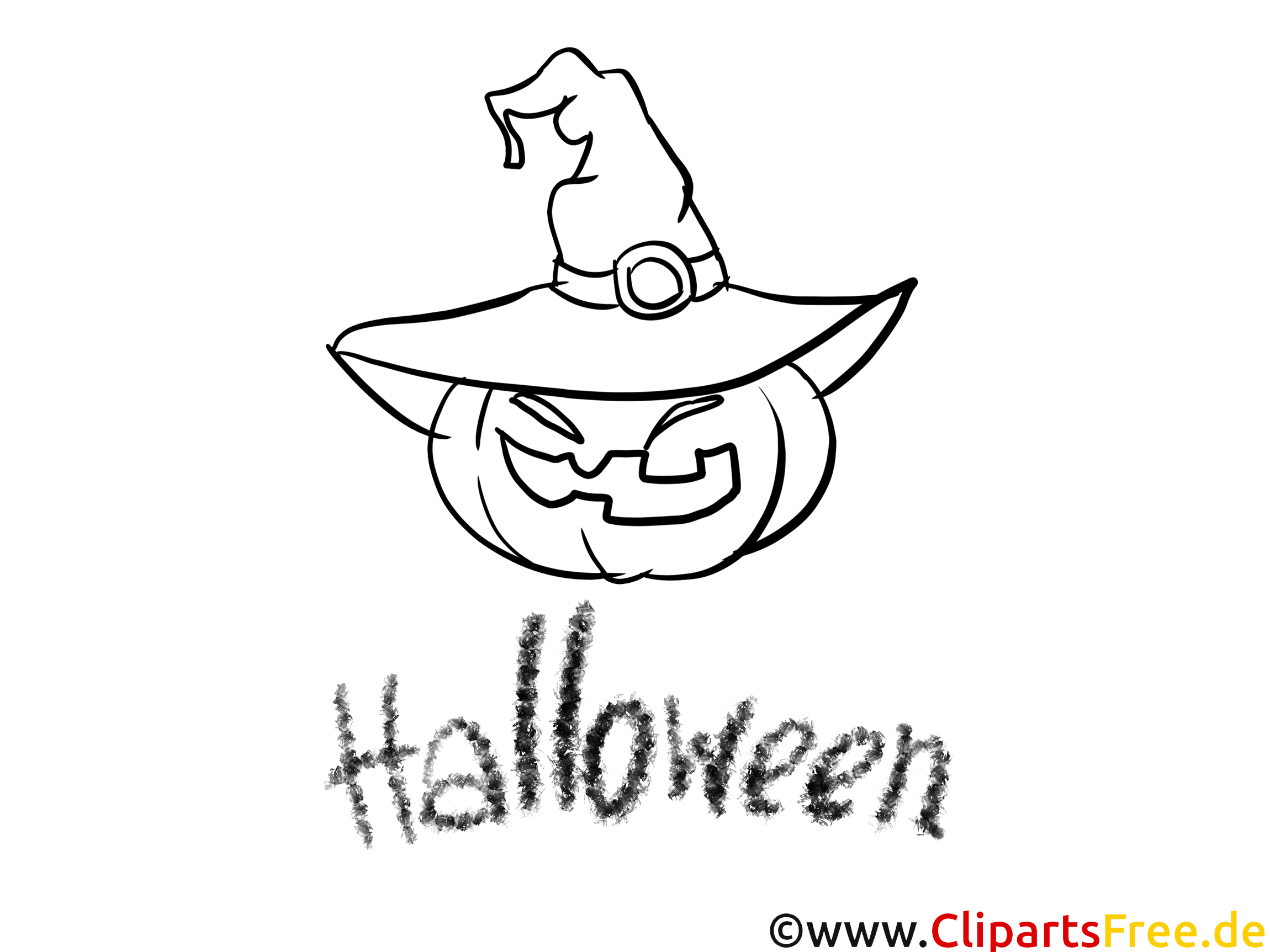 Image gratuite citrouille – Halloween à imprimer