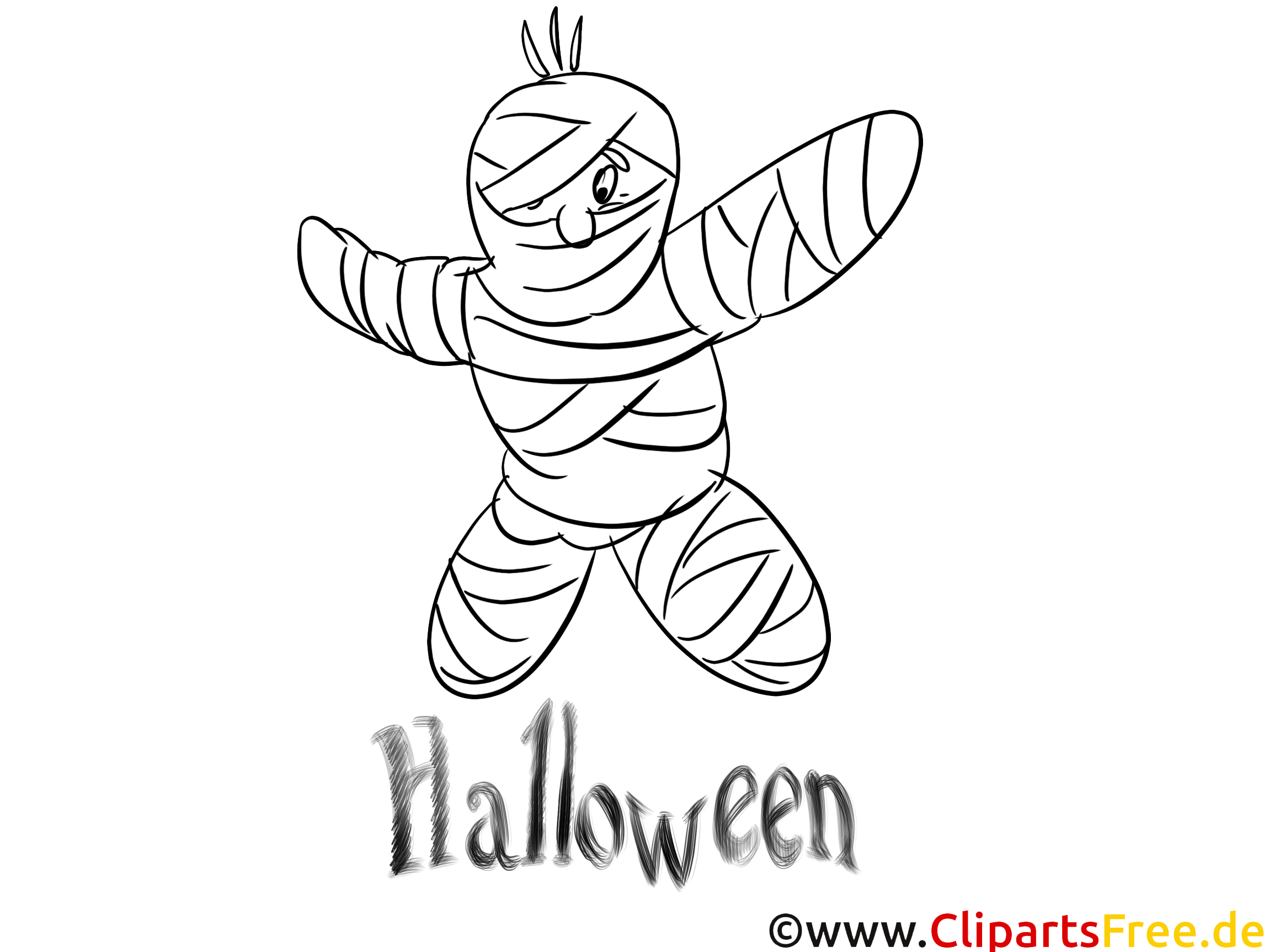 Momie clip arts – Halloween à imprimer