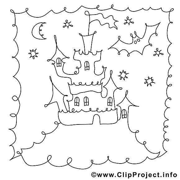 Nuit dessin – Halloween gratuits à imprimer