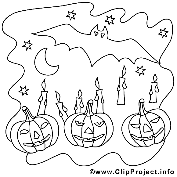 Nuit image gratuite – Halloween à imprimer