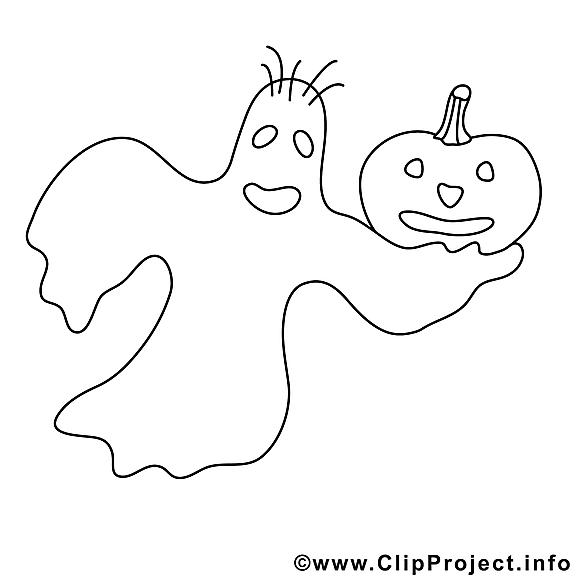 Phantôme image – Halloween images à colorier