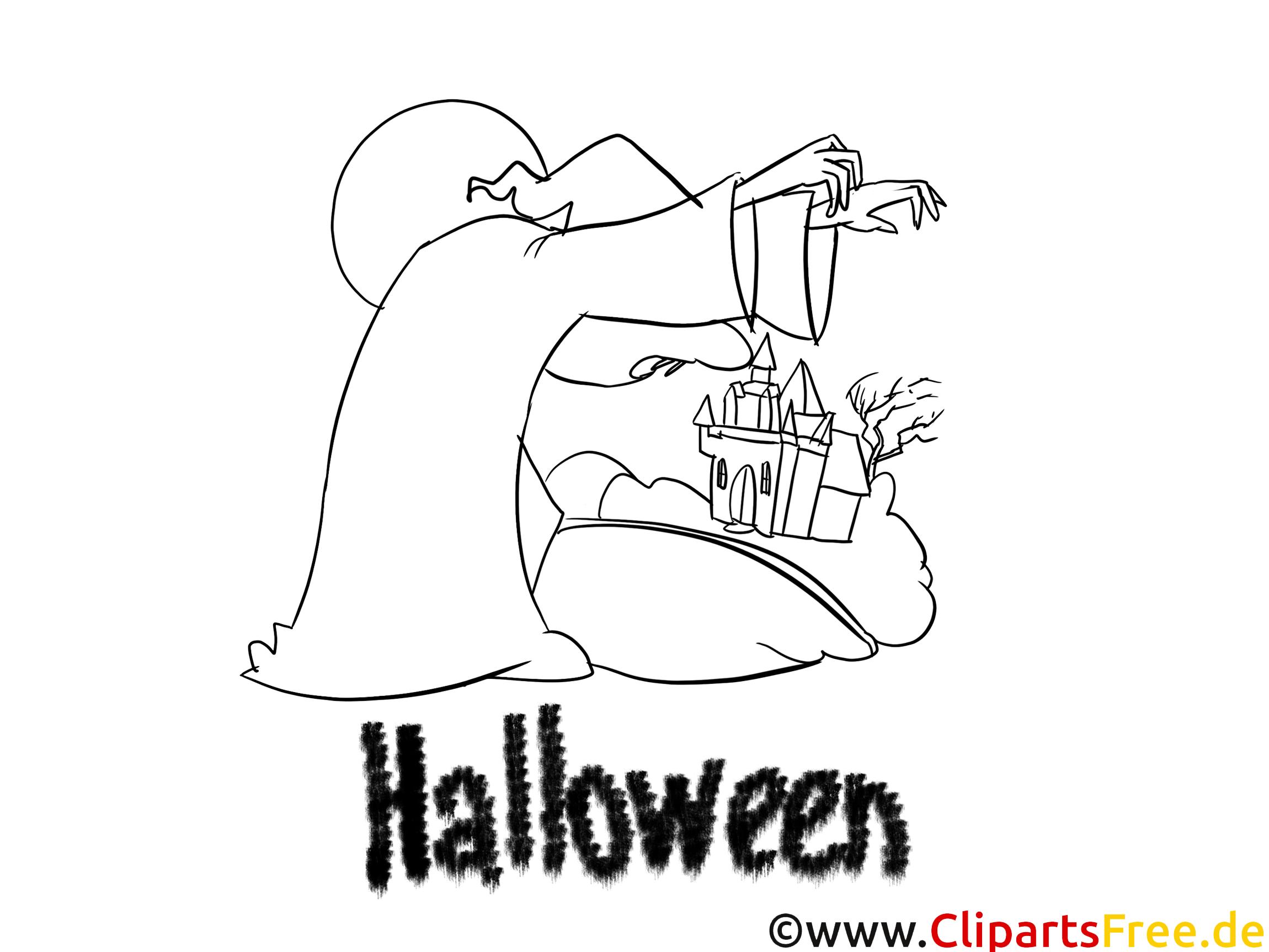 Sorcière clip arts – Halloween à imprimer
