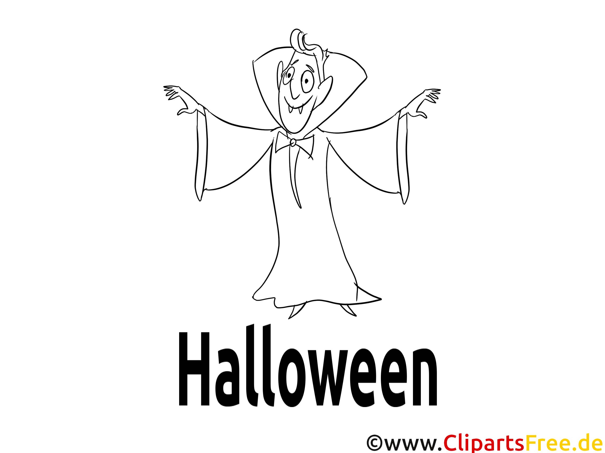Vampire illustration – Halloween à colorier