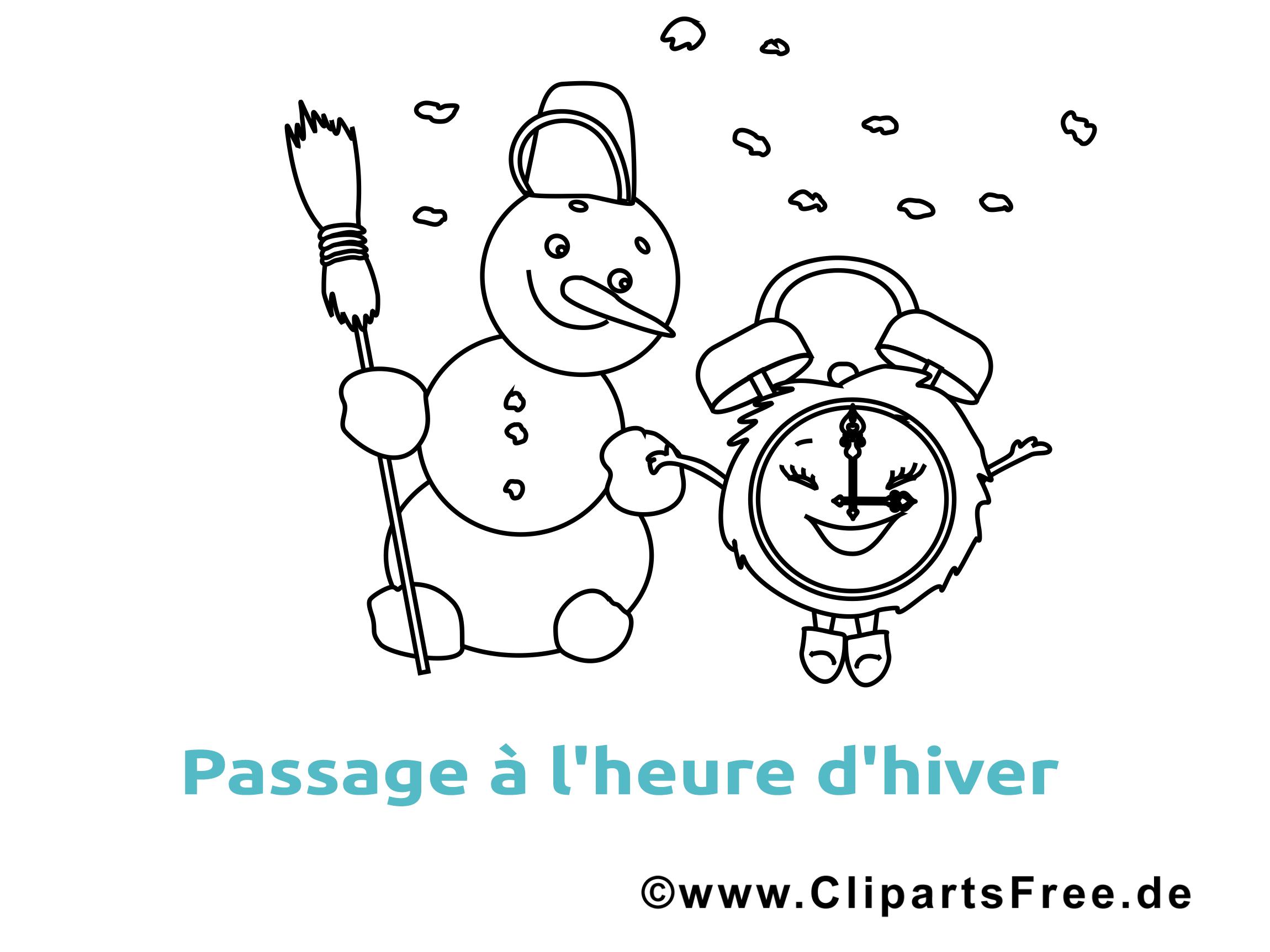 Coloriage bonhomme de neige image gratuite