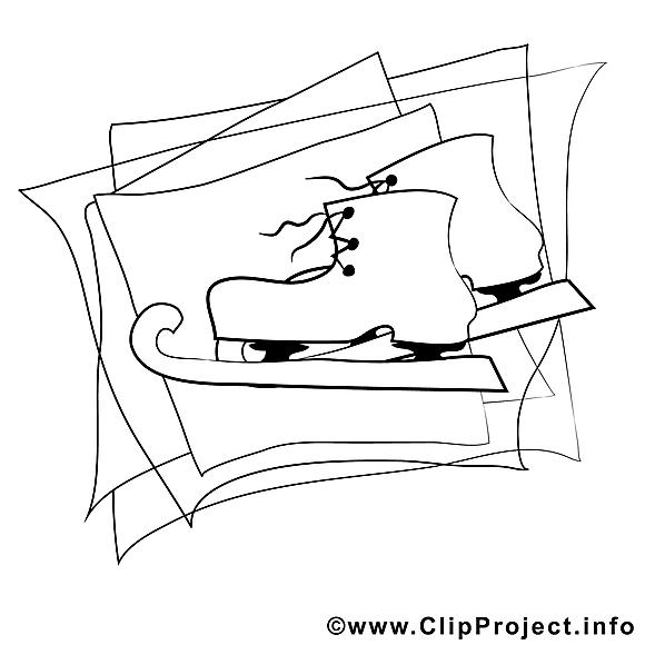 Patins à glace images – Hiver gratuit à imprimer
