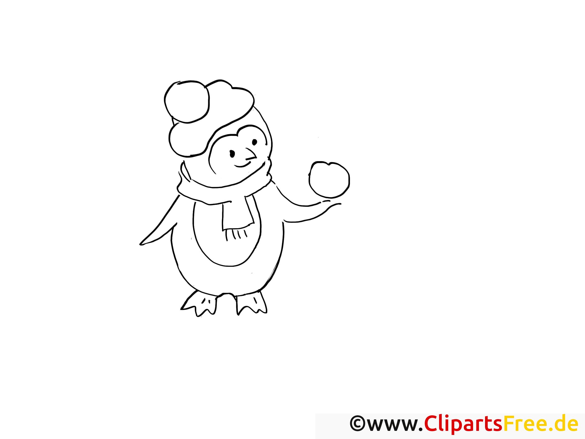 Frais Image A Colorier De Pingouin