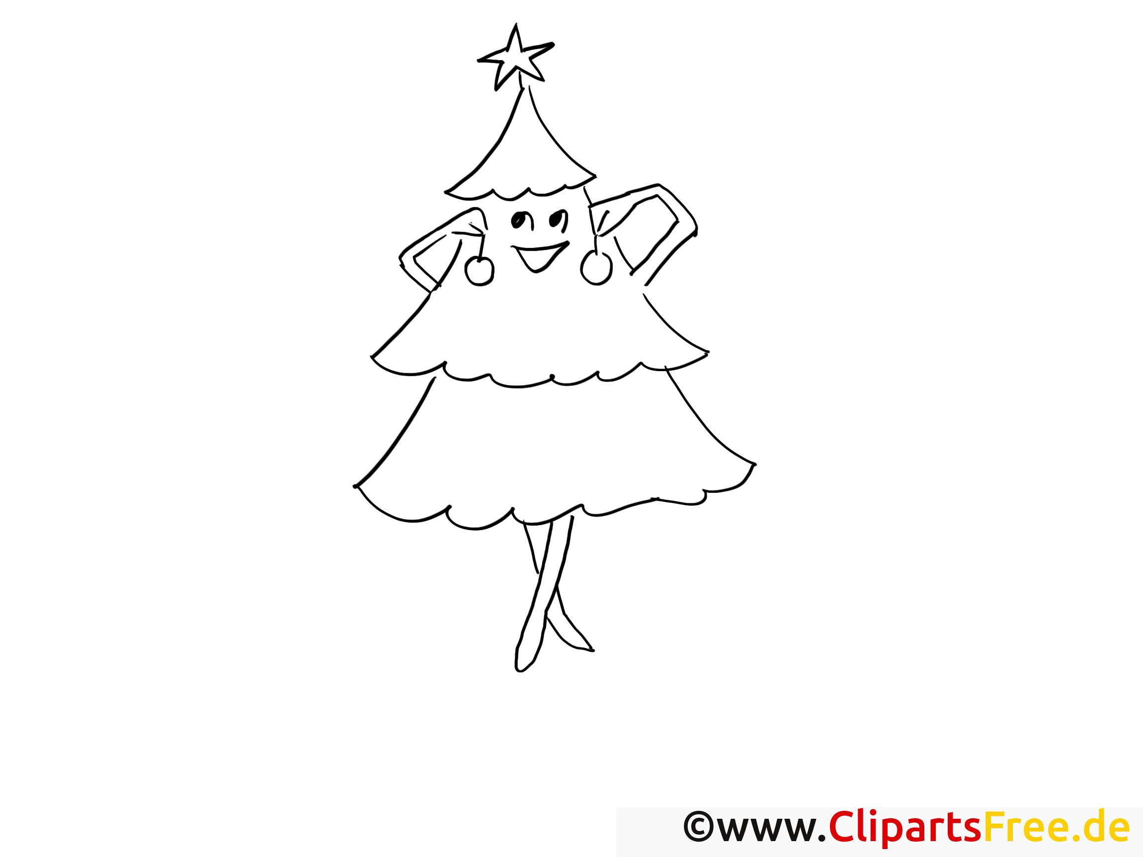 Sapin dessin gratuit – Hiver à colorier