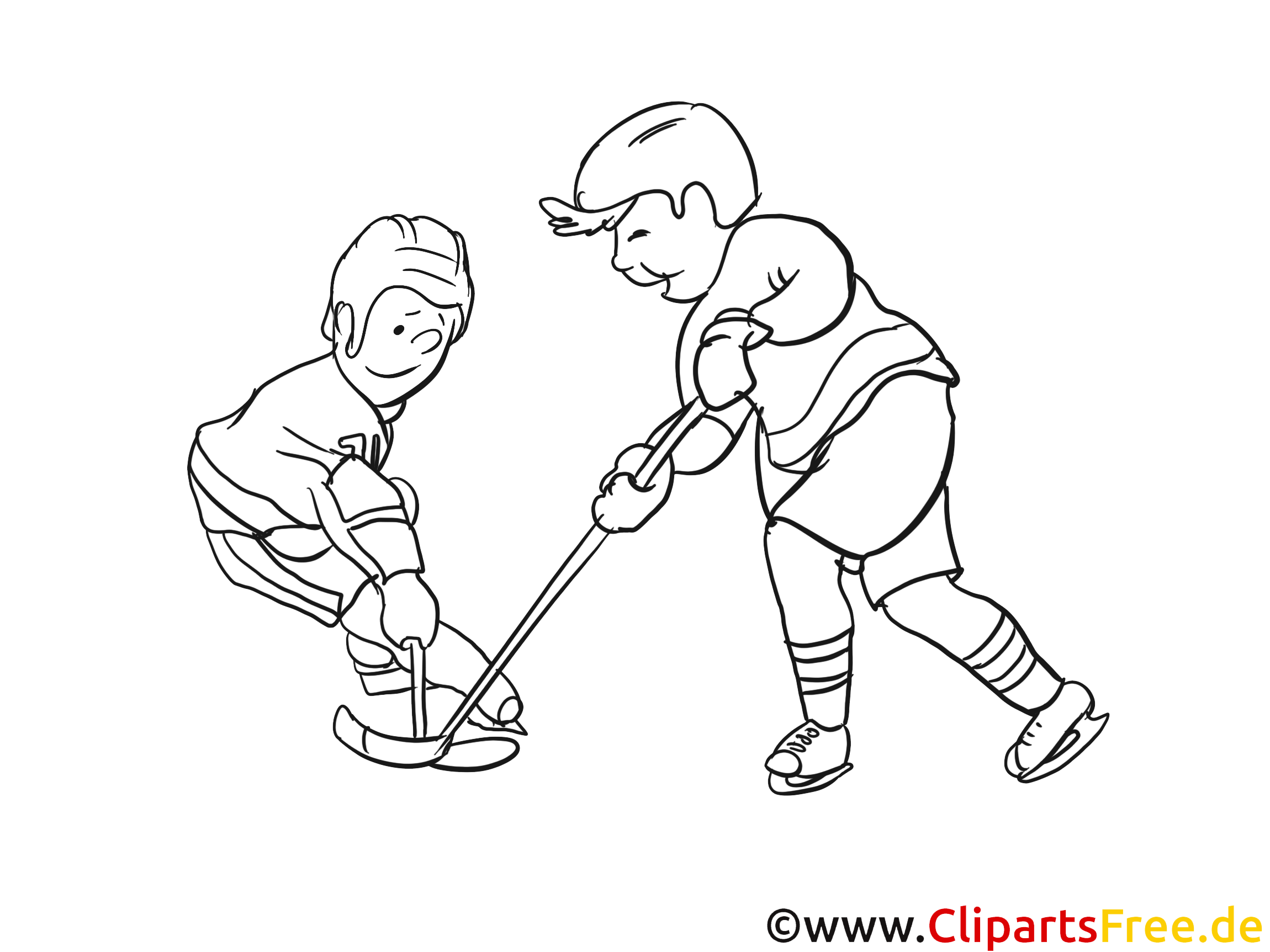 Hockeyeurs Dessin Hockey Gratuits A Imprimer Hockey Sur Glace