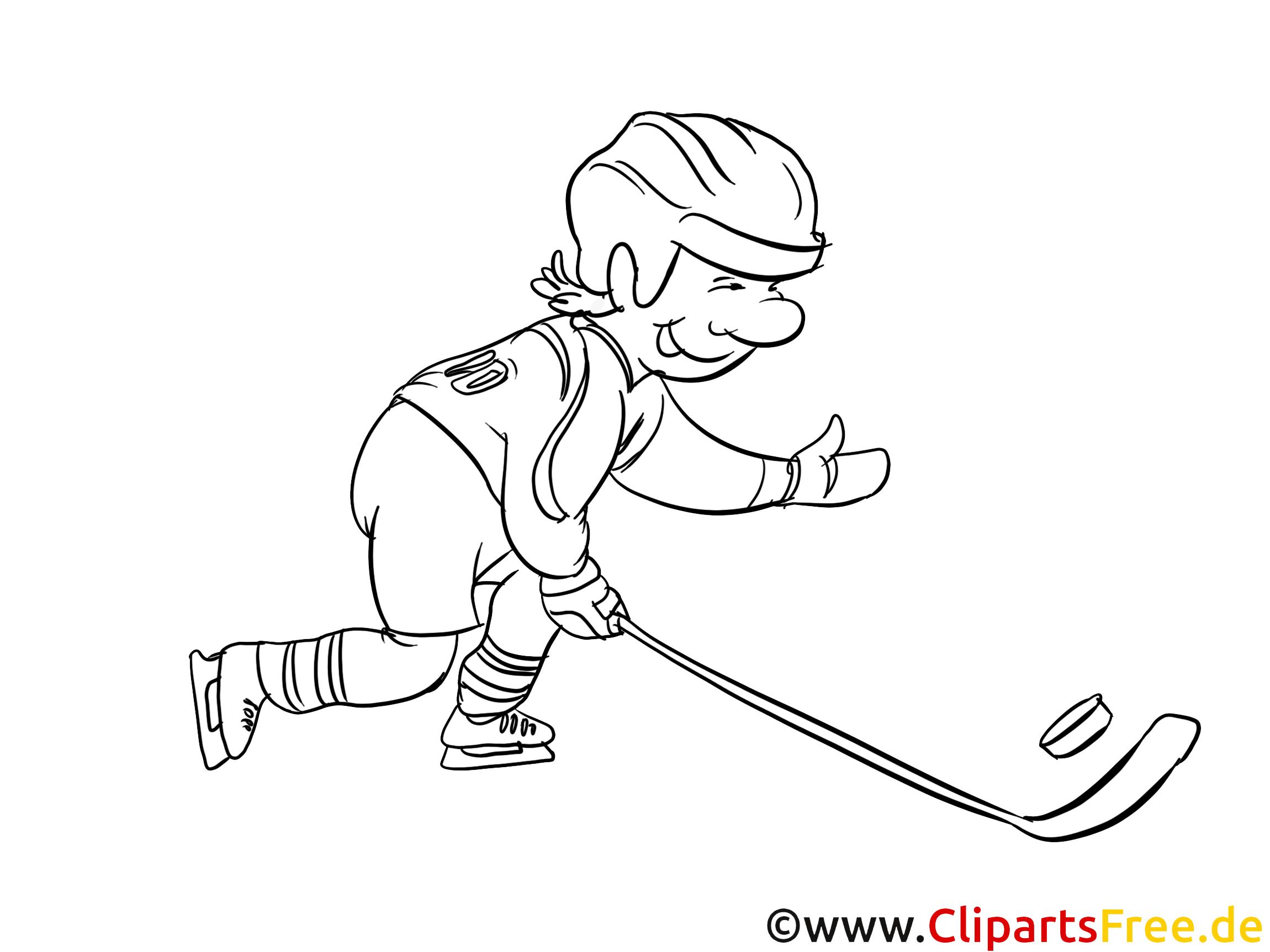 Beau Dessin A Colorier Joueur Hockey