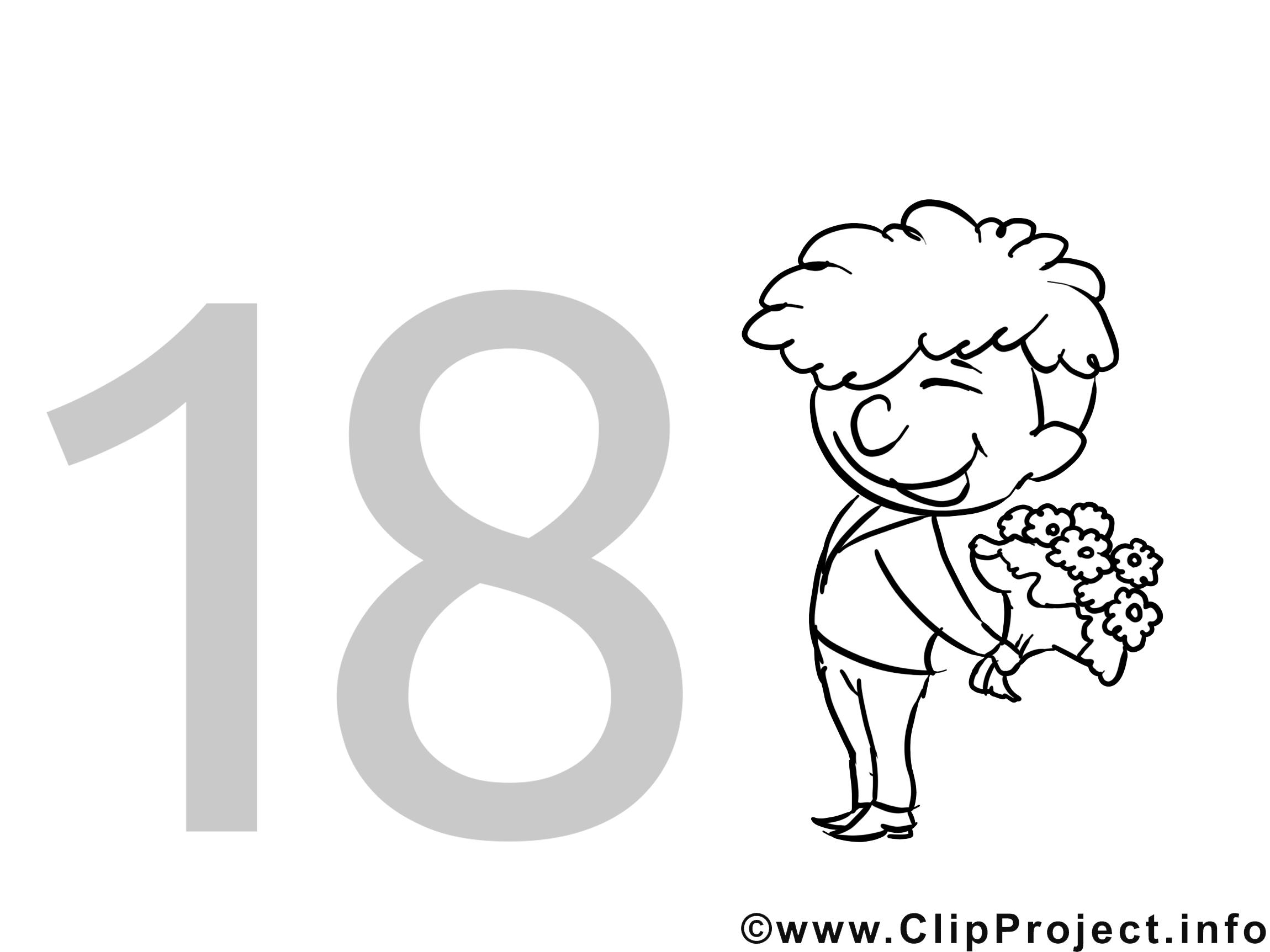 Fabuleux 18 ans dessin – Invitations gratuits à imprimer - Invitations  LX31